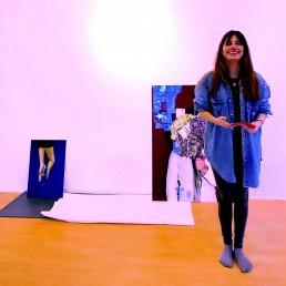 Catalina Sour Vasquez prepares for her CAM exhibit at MBS Gallery
